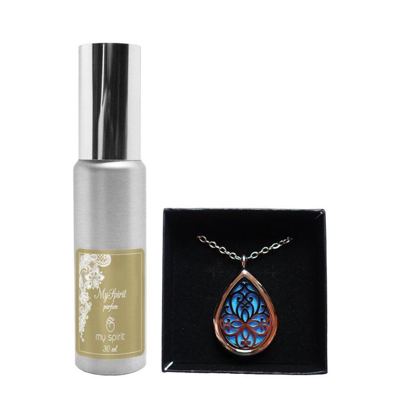 Parfumska verižica – Oblika kapljica + parfum