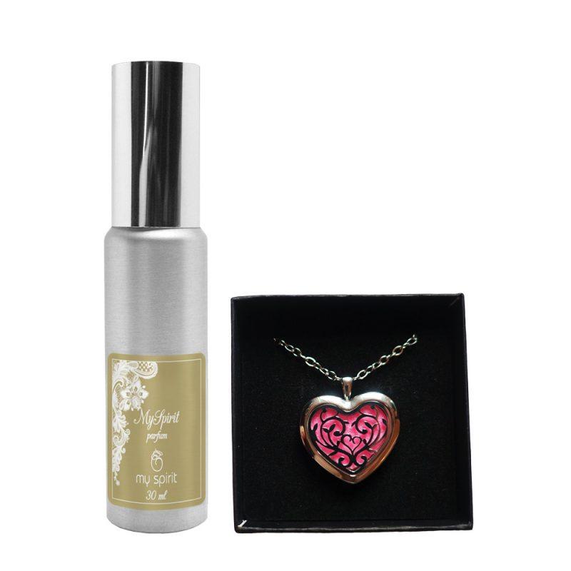 Parfumska verižica – Oblika srce + parfum