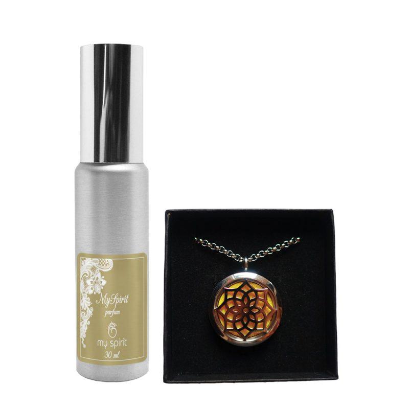 Parfumska verižica – Rozeta + parfum