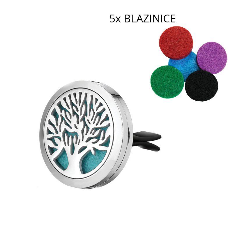 Parfumski nakit za avto – drevo + parfum