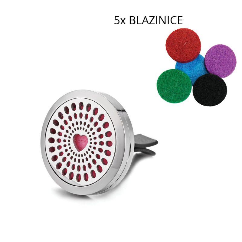 Parfumski nakit za avto – srce + parfum